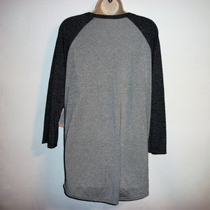 LuLaRoe Tops - Lularoe Size 2XL NWT Grey and Black Randy